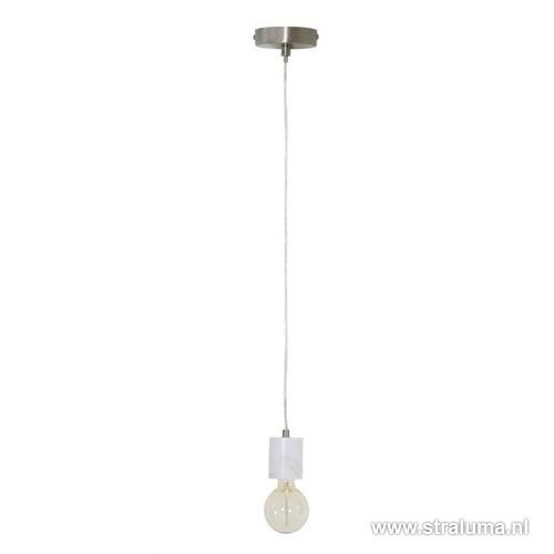 Moderne wit marmer pendellamp
