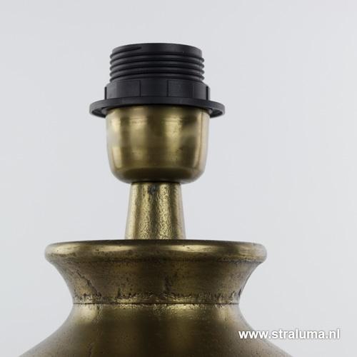 Antiek bronzen lampvoet-tafellamp Brygg