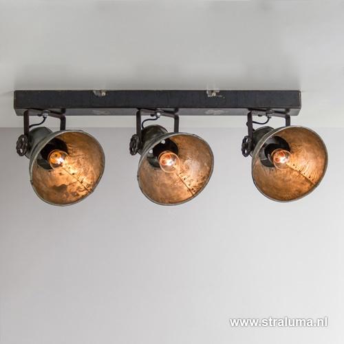 Industriele metalen spot Elay 3-lichts