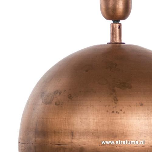 Schemerlamp-tafellamp Strado koper
