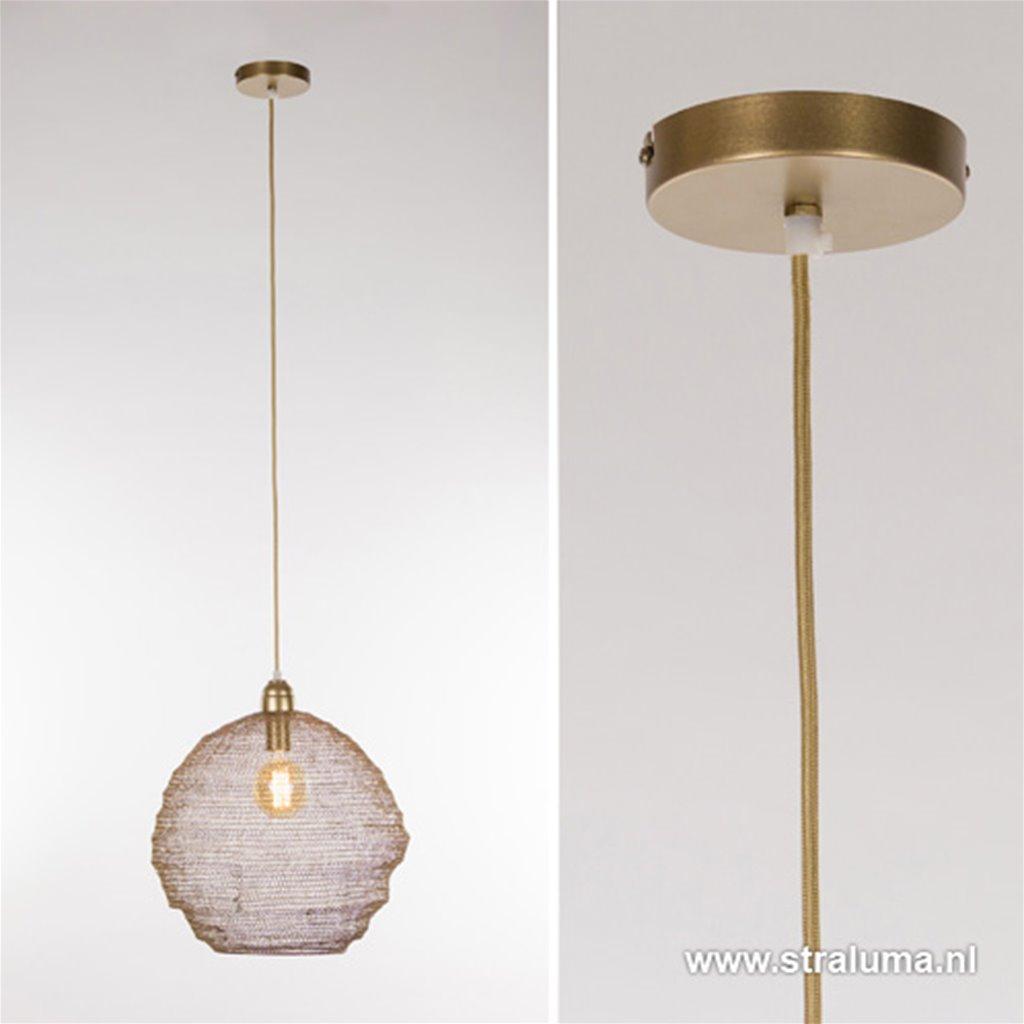 Gaas hanglamp Nina mat goud