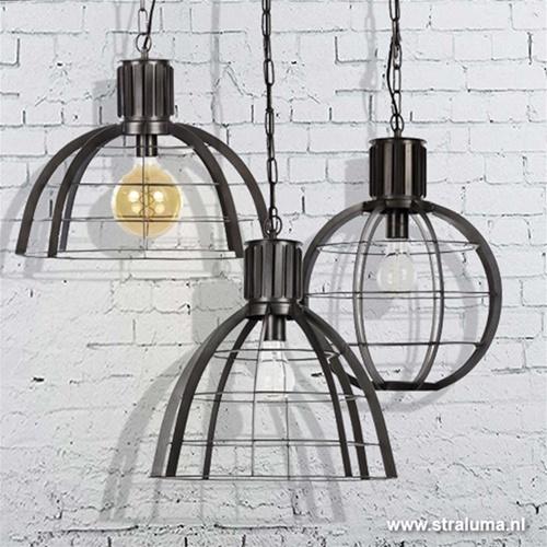 Industriele metalen hanglamp ribben