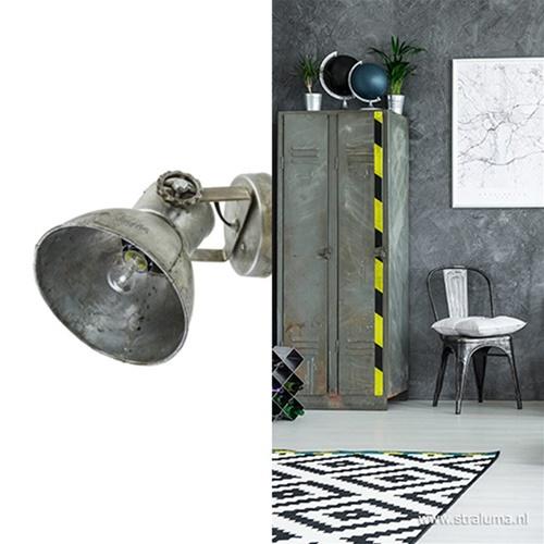 Industriële wandlamp Elay metaal-vintage