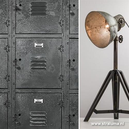 Tafellamp Junko zwart/zink