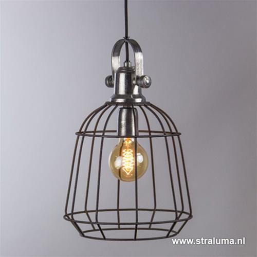 **Hanglamp Nani draad zwart/alu