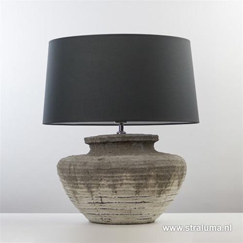 Lampvoet Naruko keramiek relief grijs