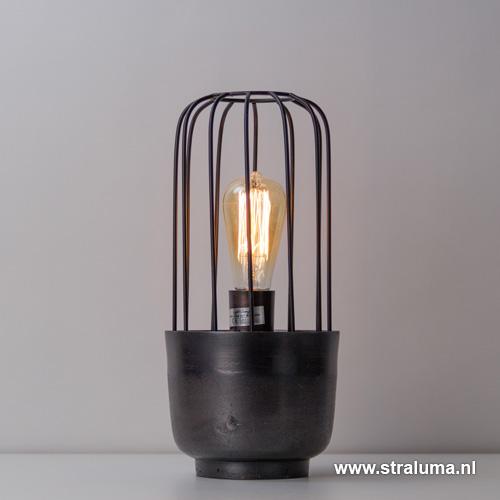 Light & Living tafellamp zwart Corrado