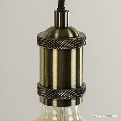 Eettafelhanglamp 5-lichts zwart-brons