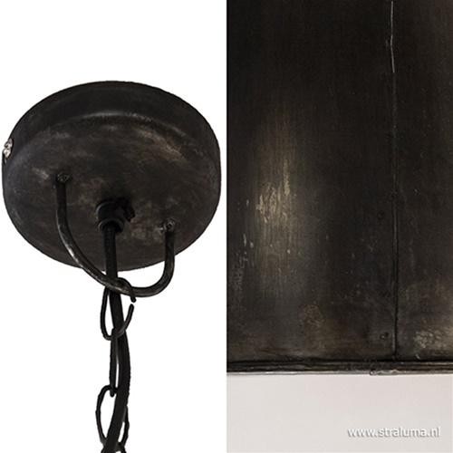 Hanglamp metaal zwart zink Light Living