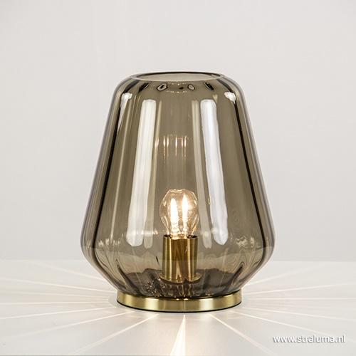 Tafellamp bruin glas Light & Living