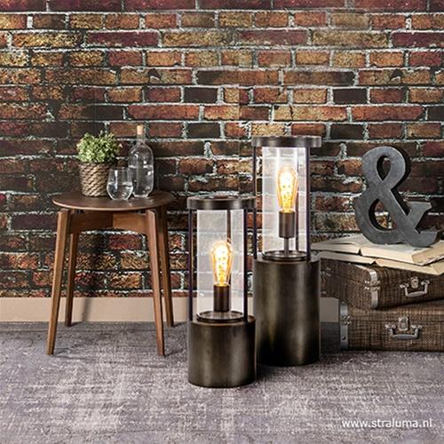 Takoda tafellamp-lantaarn met glas