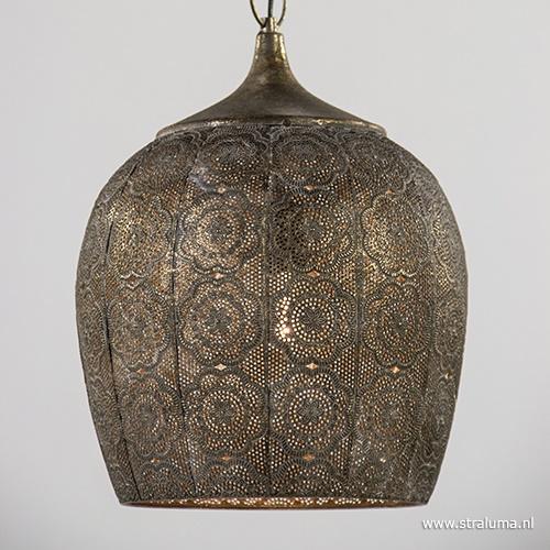 Oosterse hanglamp goud- bruin Kadiri