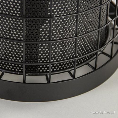 Cajana tafellamp mat zwart Light Living