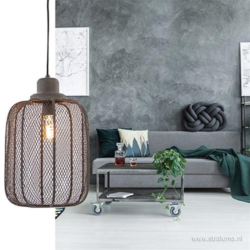 Light & Living hanglamp Anjali beton