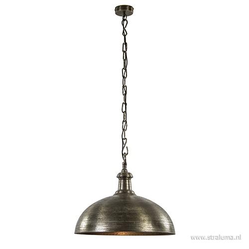 Hanglamp Demi koepel oud nikkel 50cm