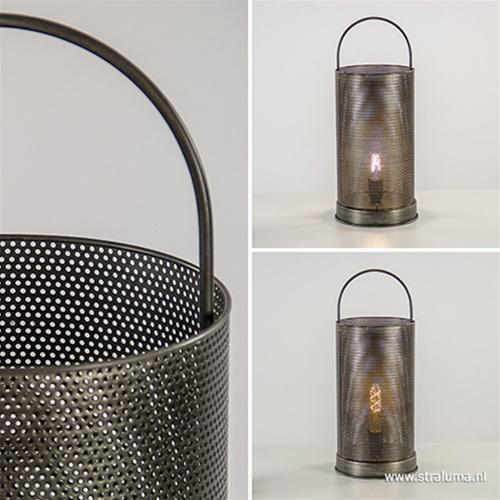 Light & Living tafellamp Riley zink