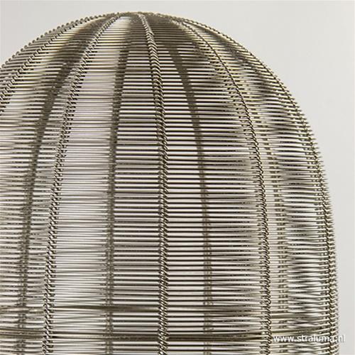 Zilveren draad tafellamp Ophra nikkel