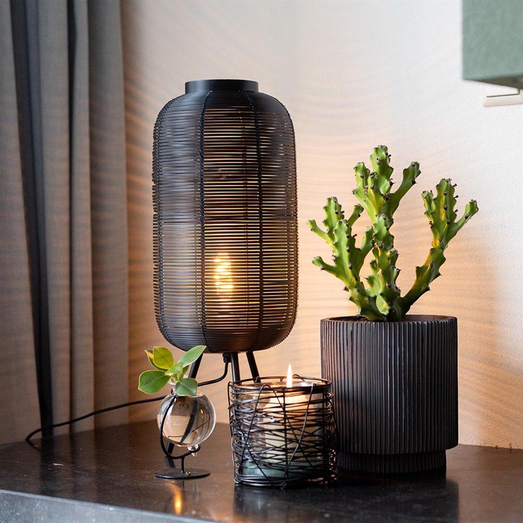 Tafellamp Tomek zwart draad 3-poot 55cm