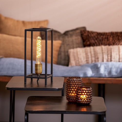 Trendy tafellamp Marlay zwart met brons