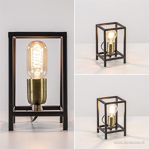 Light & Living tafellamp Marlay zwart