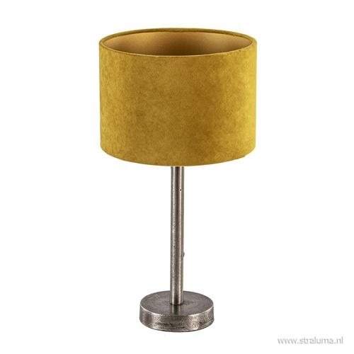 Tafellamp Undai ruw nikkel excl. kap