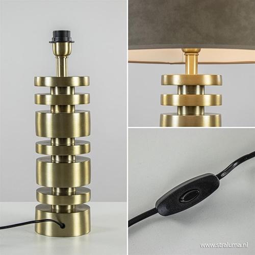 Tafellamp Desley voet z/kap matgoud