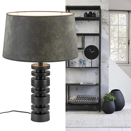 Moderne lampvoet Desley mat zwart