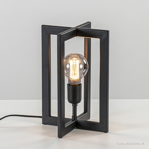 Tafellamp kruis frame zwart