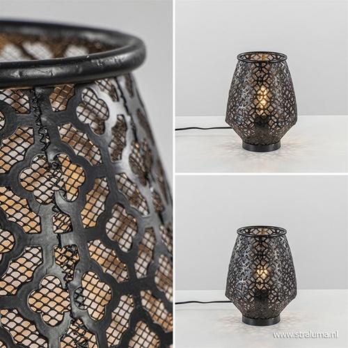 Moderne tafellamp Selkan mat zwart