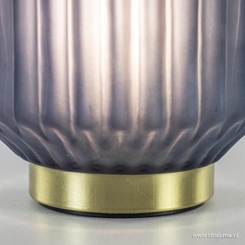 Tafellamp Ivot op batterij mat blauw klein