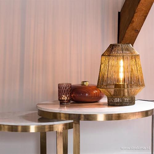 Light & Living tafellamp Vitora antiek brons