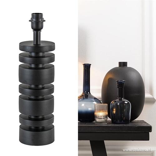 Light & Living lampvoet Desley mat zwart