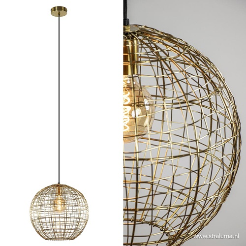 Trendy hanglamp Mirana goud L&L