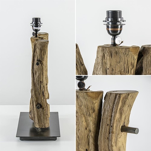 Light & Living lampvoet Gabrovo hout excl. kap