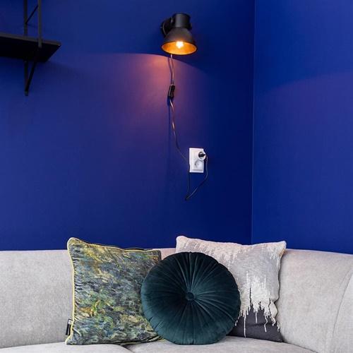 Industriële wandlamp Eliano mat zwart inclusief snoer