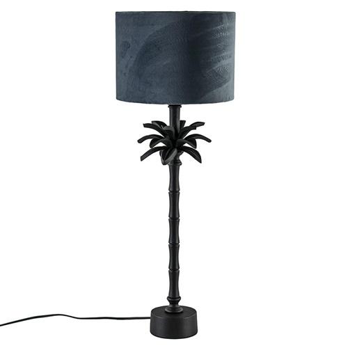 L&L lampvoet Armata mat zwarte palmboom