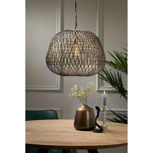 Light & Living hanglamp Alwina brons draad