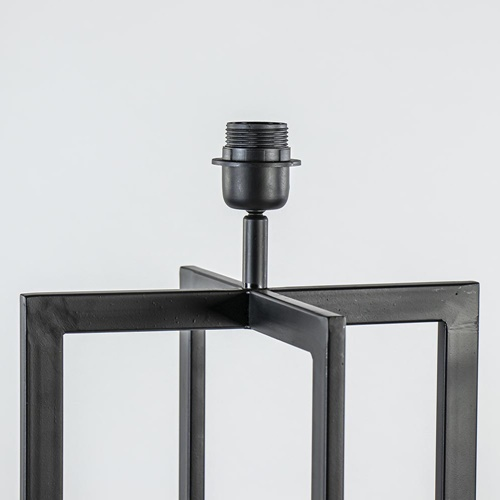 Vloerlamp Mace frame zwart exclusief kap