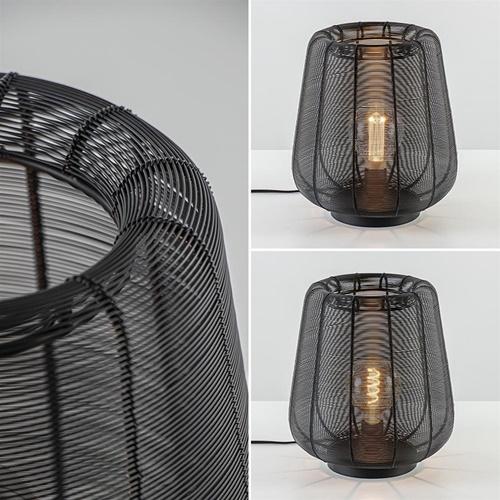 Mat zwarte draad tafellamp Adeta