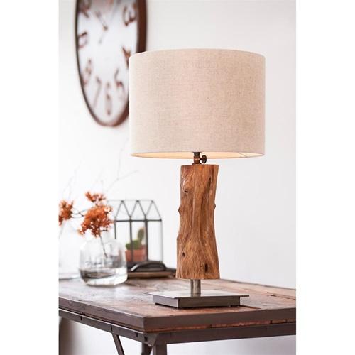 Light & Living lampvoet Siji metaal met hout