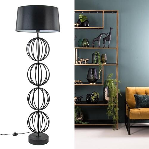 Light & Living vloerlamp Lobos mat zwart excl. kap