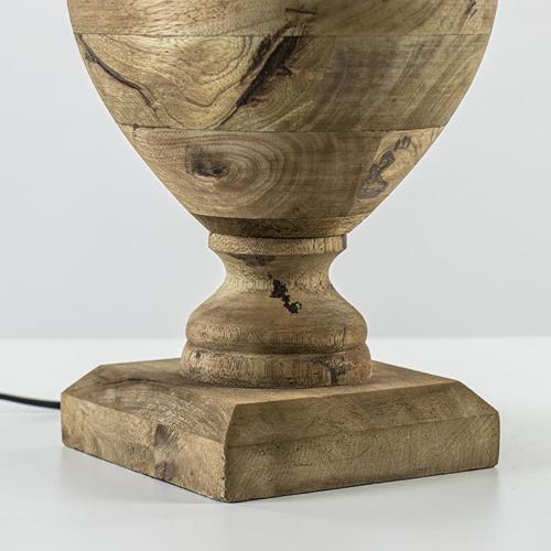 Massief houten lampvoet Milazzo met bronzen fitting