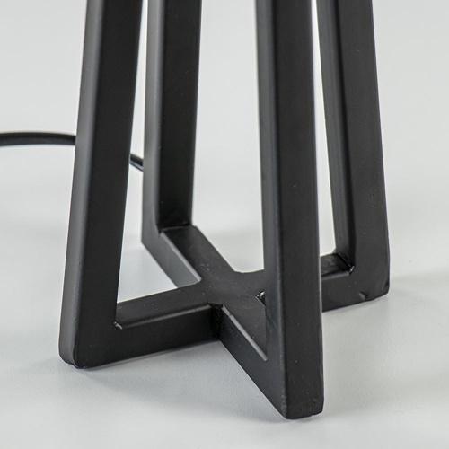 Kleine tafellamp Miley mat zwart exclusief kap