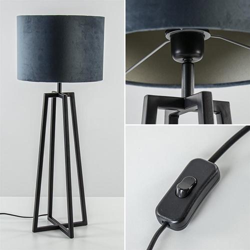 Light and Living tafellamp Miley mat zwart