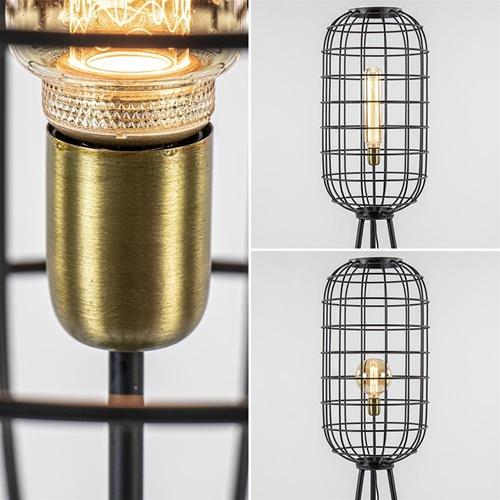 Light & Living vloerlamp Toah zwart met antiek brons