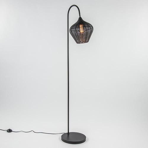 Scandinavische vloerlamp Alvaro mat zwart