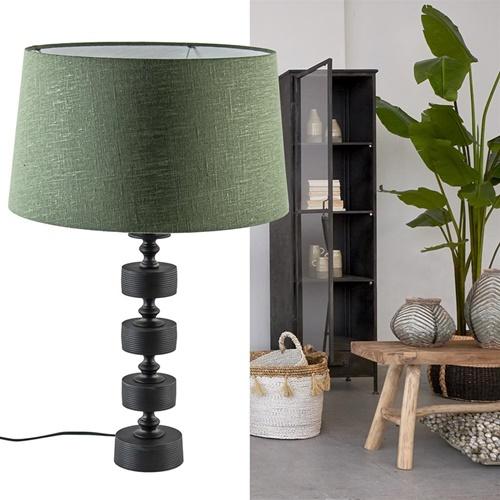 Light and Living tafellamp Gody mat zwart