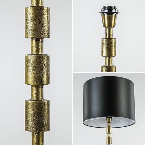 Antiek bronzen vloerlamp Malinda exclusief kap