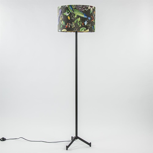 Mat zwarte vloerlamp Dennis Light & Living