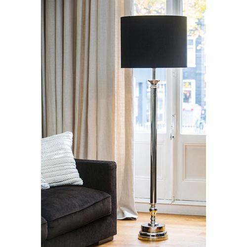 Robuuste lampvoet Floris nikkel Light and Living